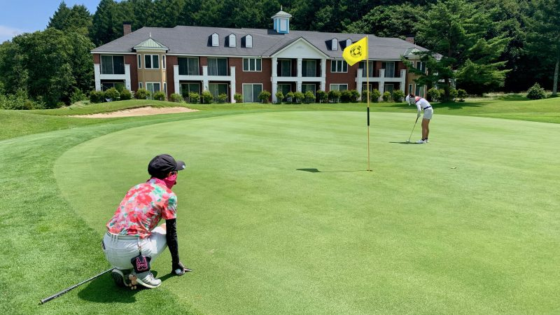 GEN-TENゴルフコースレッスン強化合宿サニーCC2日目パッティングの写真③