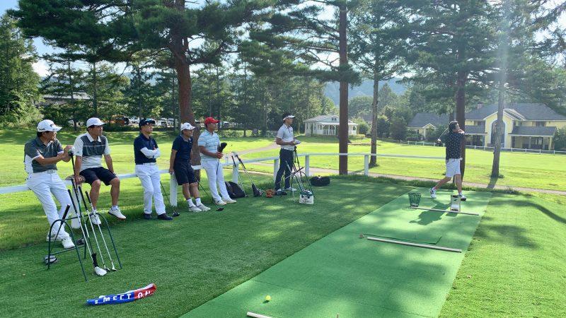 GEN-TENゴルフコースレッスン強化合宿サニーCC2日目ショット練習正面からの写真