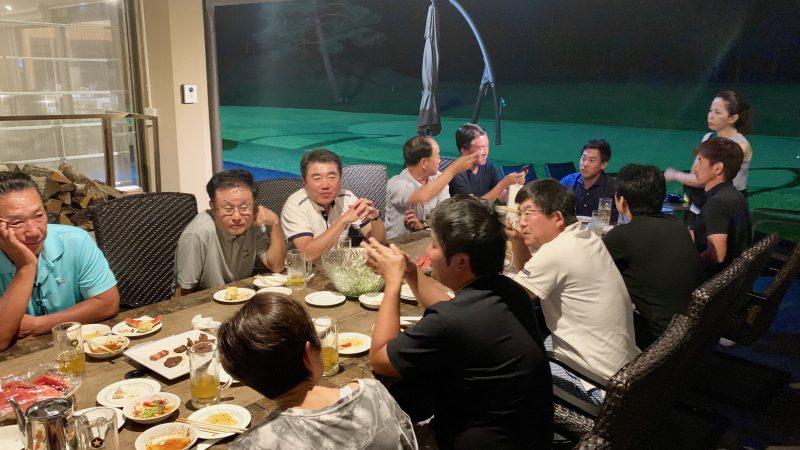 GEN-TENゴルフコースレッスン強化合宿サニーCC2日目BBQの写真②