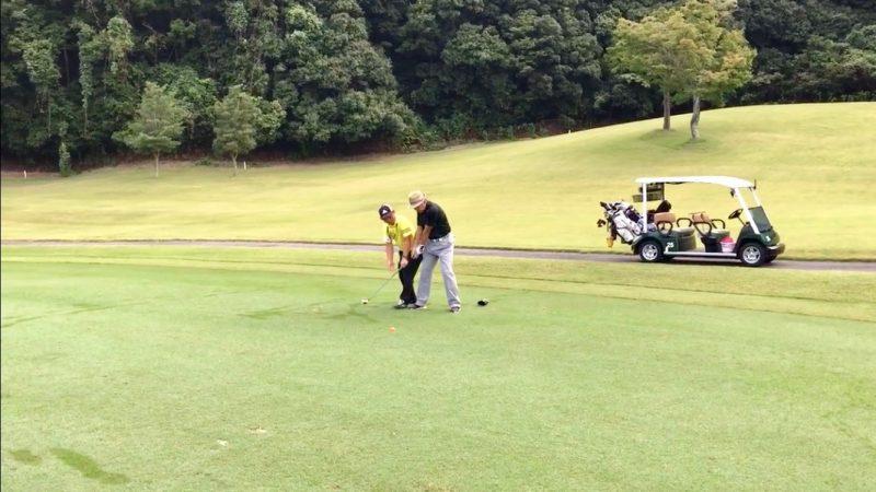 GEN-TENゴルフコースレッスン12番セカンドショットの写真