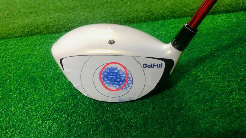 GEN-TENゴルフコースレッスン打点真ん中の写真