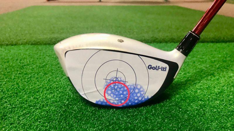 GEN-TENゴルフコースレッスン打点下部の写真