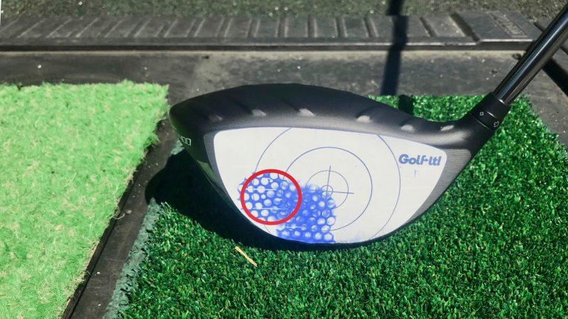 GEN-TENゴルフコースレッスン打点トウ側の写真