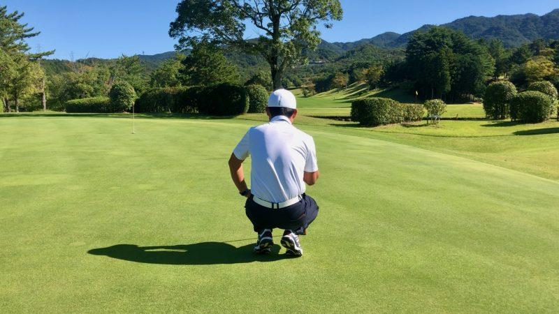 GEN-TENゴルフコースレッスンパッティング傾斜の読みの写真