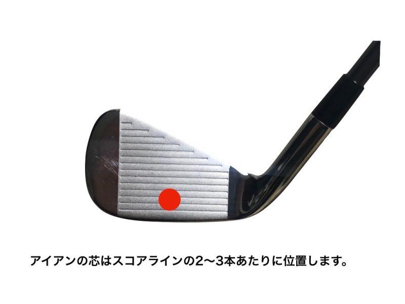 GEN-TENゴルフコースレッスンアイアンの芯の図解