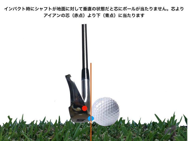 GEN-TENゴルフコースレッスンアッパーブローインパクトの図解