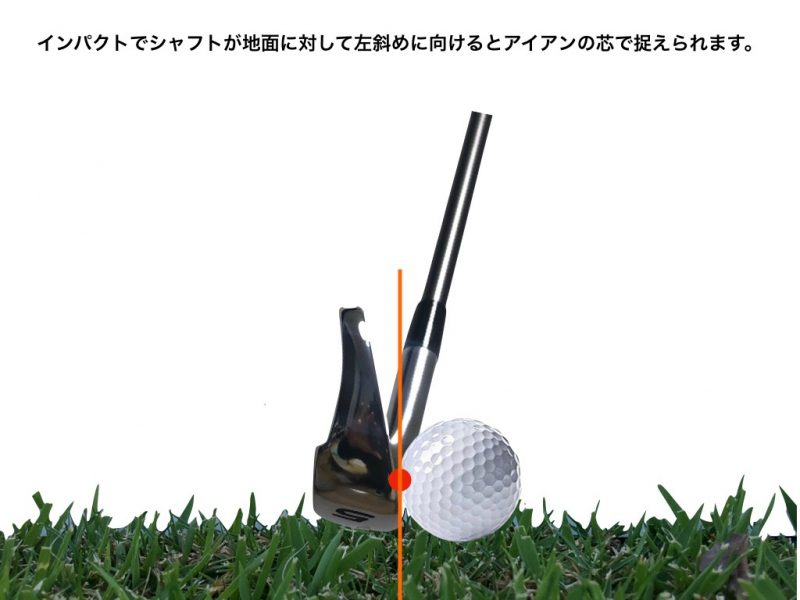 GEN-TENゴルフコースレッスンダウンブローインパクトの図解