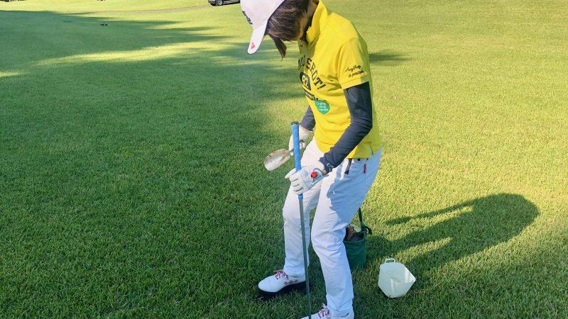 GEN-TENゴルフコースレッスンヒントレッスン定点練習目土の写真②