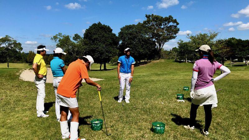 GEN-TENゴルフコースレッスンチャーター大多喜城GCショートゲームレッスンの写真