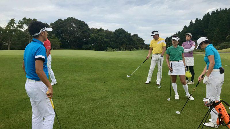 GEN-TENゴルフコースレッスンチャーター大多喜城GCショートゲームレッスンの写真②