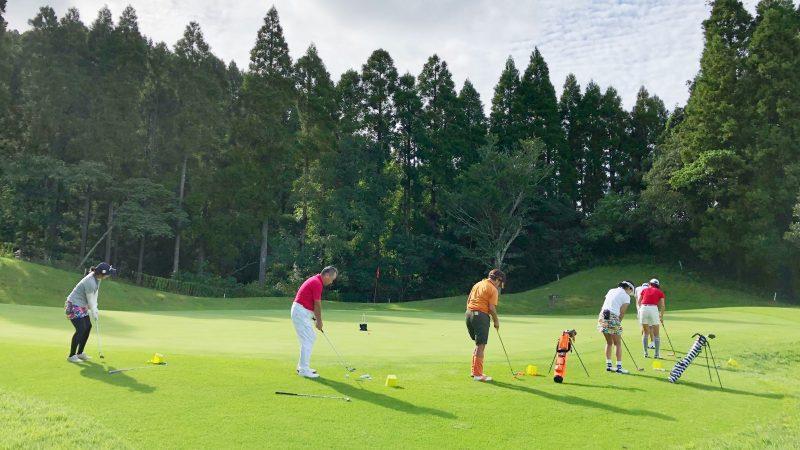 GEN-TENゴルフコースレッスンチャーター大多喜城GCコース内練習アプローチの写真