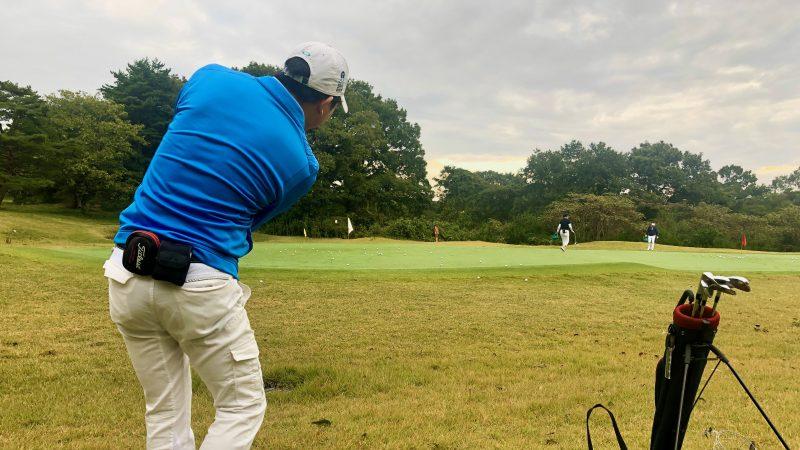 GEN-TENゴルフコースレッスントライフィールドグリーン周りの練習の写真②