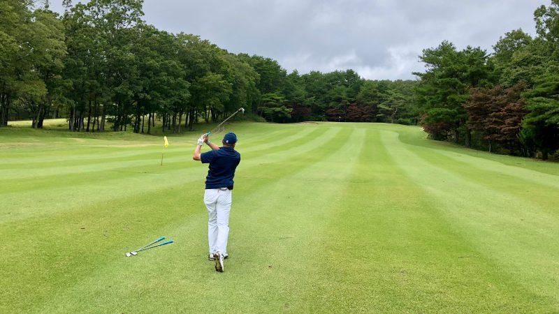 GEN-TENゴルフコースレッスン那須国際CCラウンドセカンドショットの写真