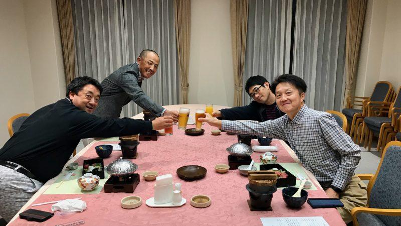 GEN-TENゴルフコースレッスンDC@JOYXGC夕食乾杯の写真