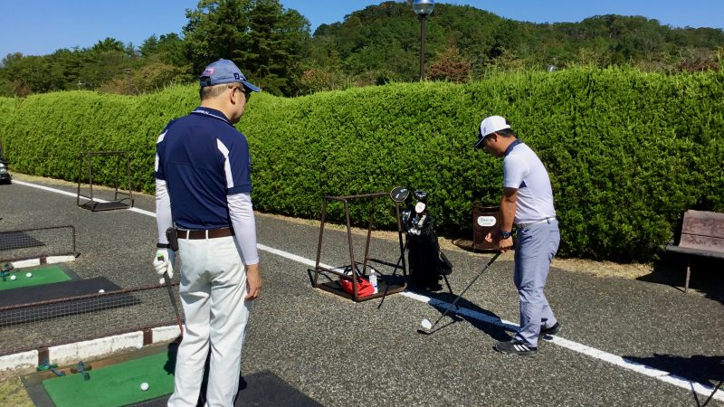 GEN-TENゴルフコースレッスンハーフラウンド千刈CCロングゲームレッスン説明の写真