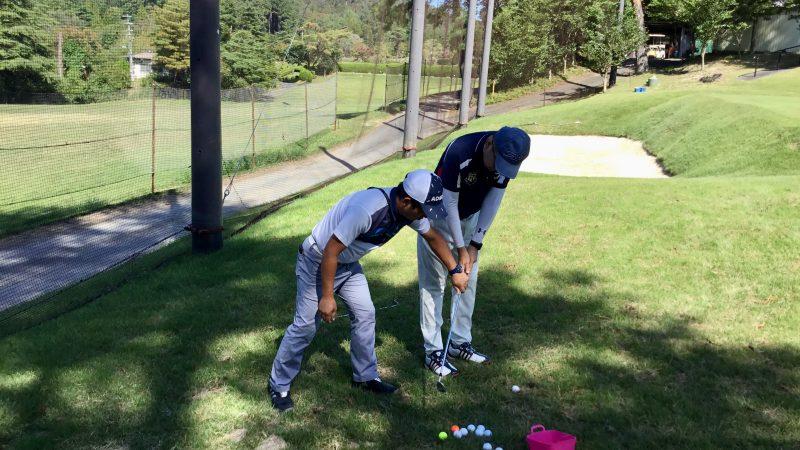 GEN-TENゴルフコースレッスンハーフラウンド千刈CCショートゲームレッスンアプローチの写真