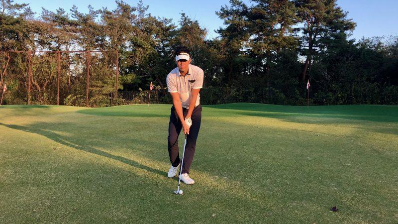 GEN-TENゴルフコースレッスン腰の回転ドリルアドレス②の写真