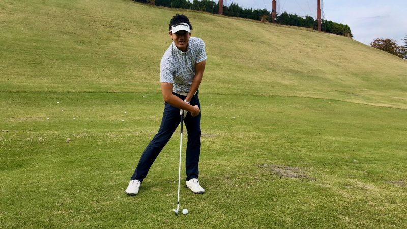GEN-TENゴルフコースレッスン腰の回し方インパクトの写真