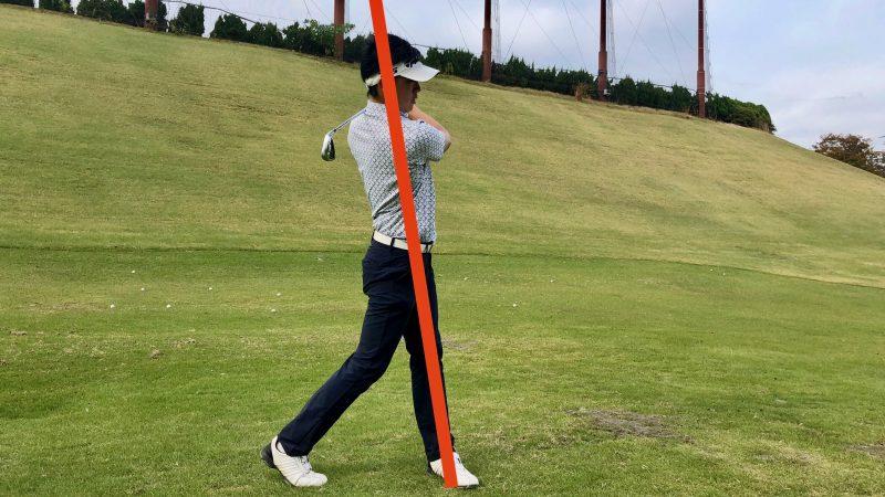 GEN-TENゴルフコースレッスン腰が引けたフィニッシュの写真