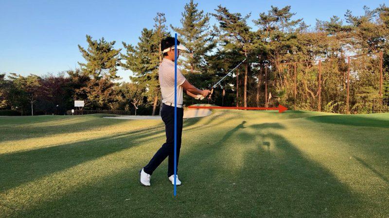 GEN-TENゴルフコースレッスン腰の回転ドリルフィニッシュの写真
