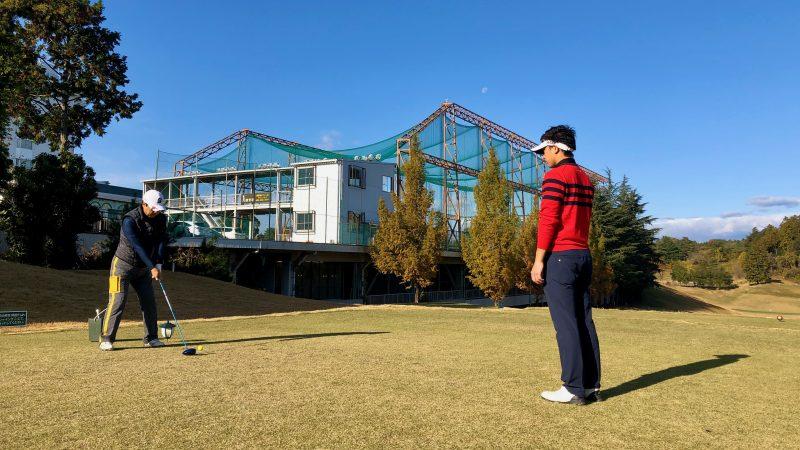 GEN-TENゴルフコースレッスンDCサンコー72CCラウンドティショット正面からの写真