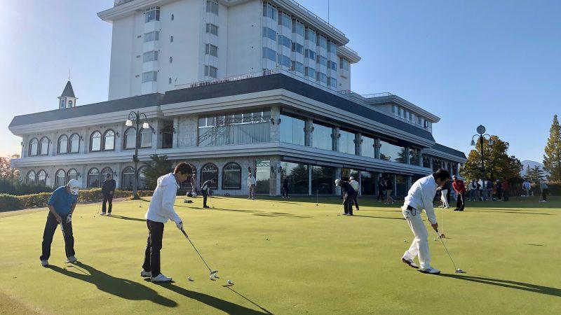 GEN-TENゴルフコースレッスンDCサンコー72CCパッティング練習の写真