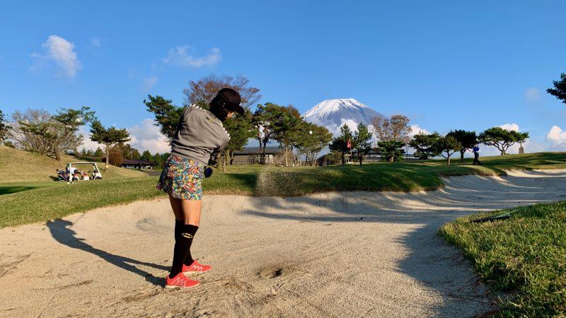 GEN-TENゴルフコースレッスンDC朝霧CCバンカーショットの写真