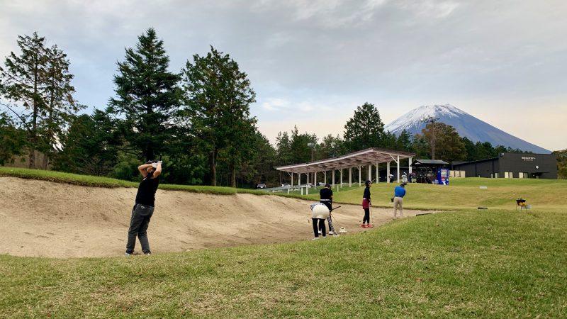 GEN-TENゴルフコースレッスンDC朝霧CCバンカー練習の写真