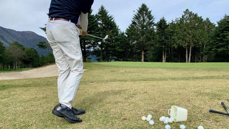 GEN-TENゴルフコースレッスンDC朝霧CCアプローチ練習アップの写真