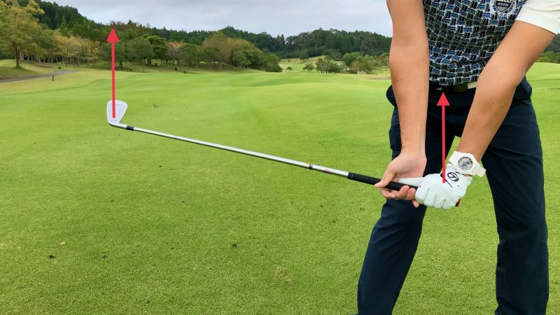 GEN-TENゴルフコースレッスンハンドアクション背屈アップの写真