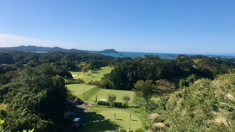 GEN-TENゴルフコースレッスン浜島CCクラブハウスからの写真