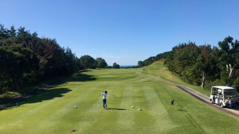 GEN-TENゴルフコースレッスン浜島CCティーインググラウンドからの写真