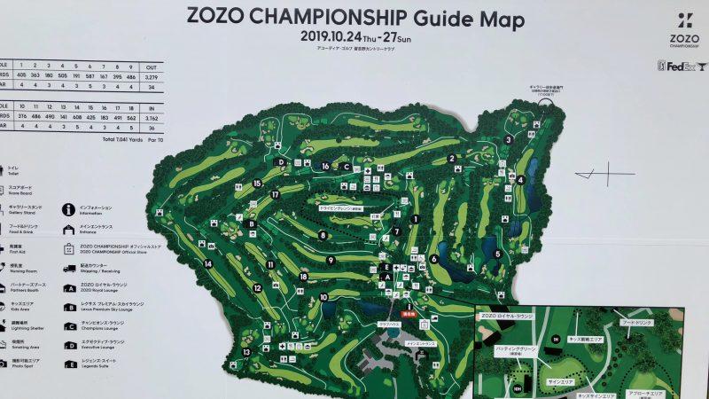 GEN-TENゴルフコースレッスンZOZOチャンピオンシップコース図の写真