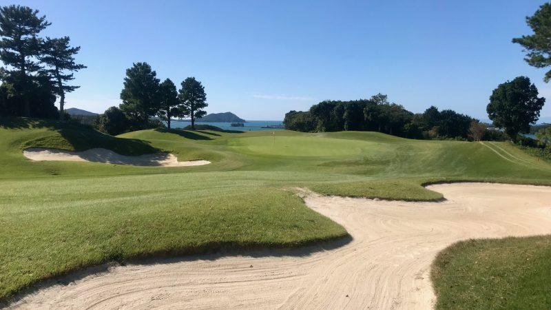GEN-TENゴルフコースレッスン浜島CCクロスバンカーからの写真