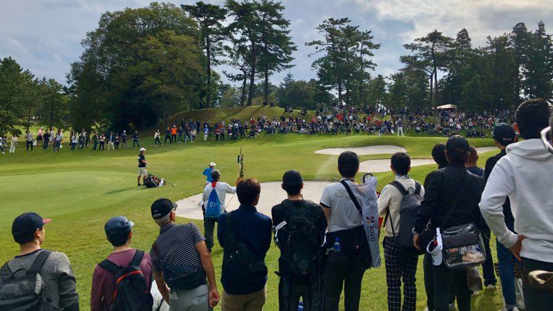 GEN-TENゴルフコースレッスンZOZOチャンピオンシップマキロイバンカーショットの写真