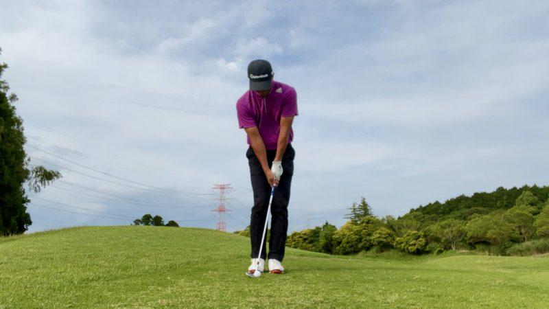 GEN-TENゴルフコースレッスンアプローチアドレス