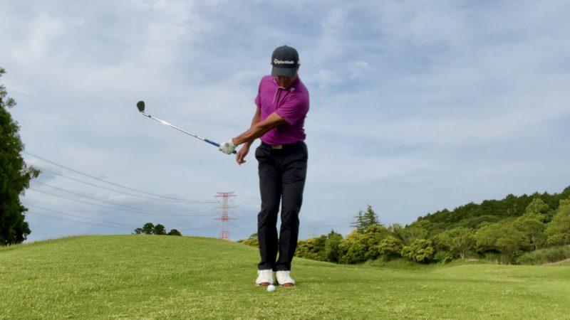 GEN-TENゴルフコースレッスンアプローチドリル左片腕テークバック