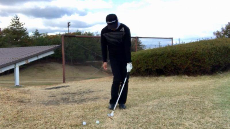 GEN-TENゴルフコースレッスン左片腕インパクトの写真