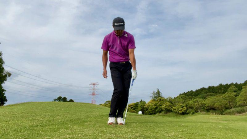 GEN-TENゴルフコースレッスンアプローチドリル左片腕インパクト