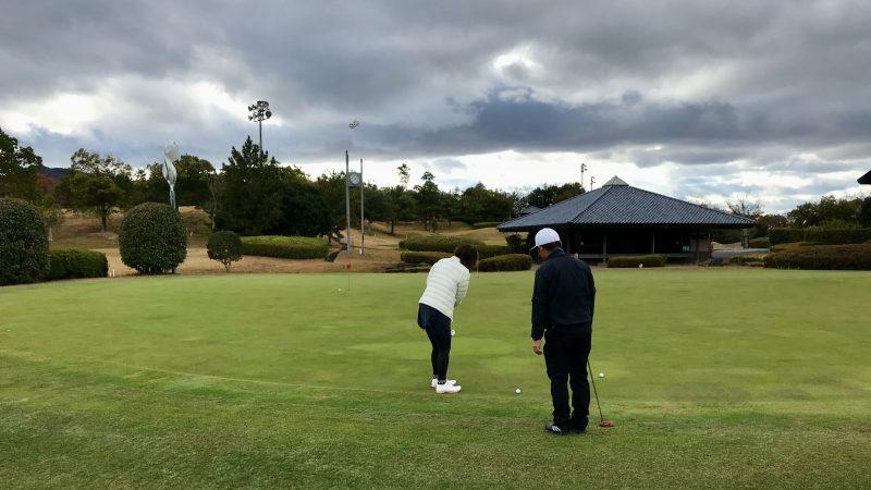 GEN-TENゴルフコースレッスン六甲CCパット練習距離感の写真