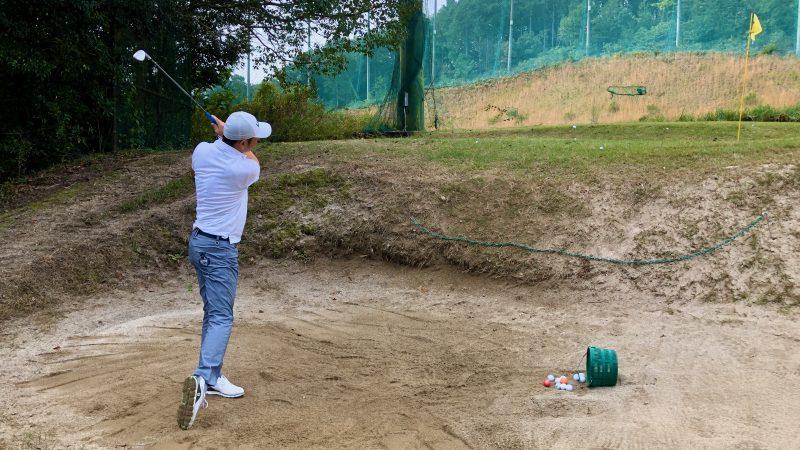 GEN-TENゴルフコースレッスン名古屋グリーンCCバンカー練習の写真
