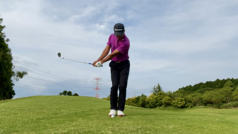 GEN-TENゴルフコースレッスンアプローチテークバック