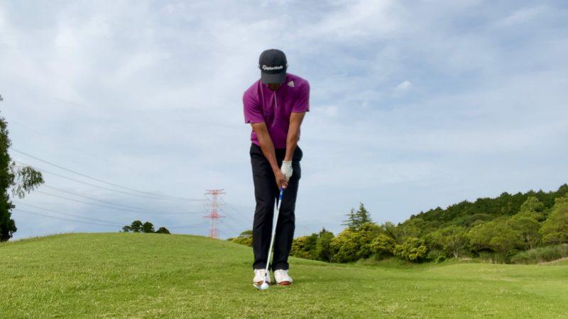 GEN-TENゴルフコースレッスンアプローチドリルノーテークバックアドレス