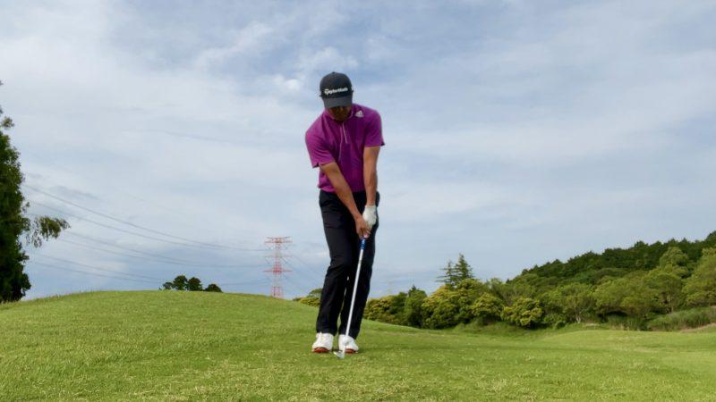GEN-TENゴルフコースレッスンアプローチインパクト