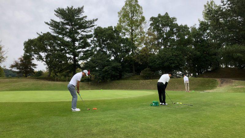 GEN-TENゴルフコースレッスン名古屋グリーンCC定点練習アプローチの写真