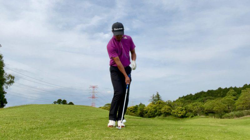 GEN-TENゴルフコースレッスンアプローチドリル右片腕インパクト