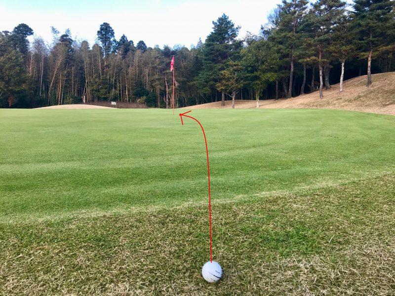 GEN-TENゴルフコースレッスンアプローチピンまで10ydsパター読み方の写真