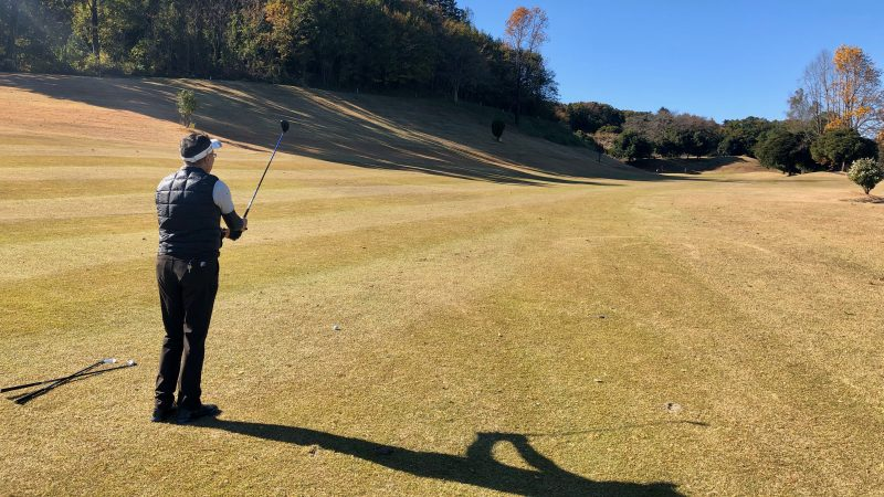 GEN-TENゴルフコースレッスン飯能パークCCハーフラウンドセカンドショットの写真