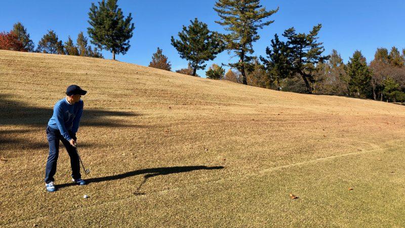 GEN-TENゴルフコースレッスン飯能パークCCハーフラウンド2番ホールセカンドショットの写真