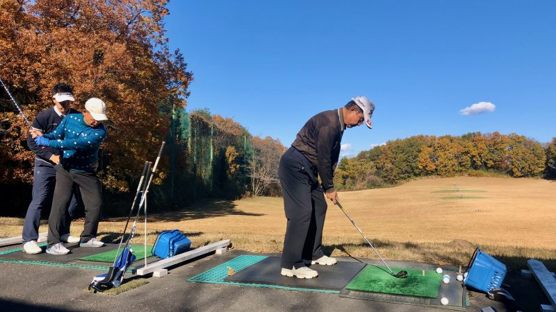 GEN-TENゴルフコースレッスン前傾姿勢ドリルの写真②